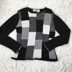 Kathie Lee's black and White sweater . Size M